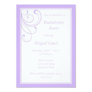 "Custom Light Purple Invitations or Announcements 5"" X 7"" Invitation Card"