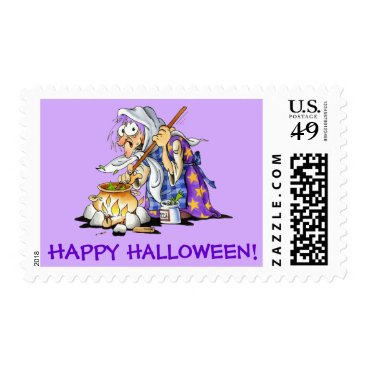 Halloween Themed Custom Lilac Halloween Stamps - Purple Witch