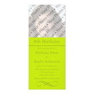Custom Lime Green Photo Invitation or Announcement