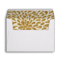Custom Lined Envelopes With Gold color Lining