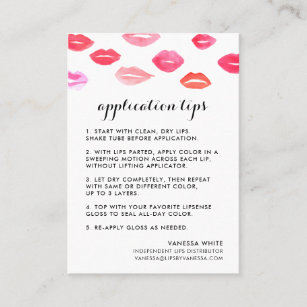 Lips business cards zazzle custom lip product distributor tips tricks business card colourmoves