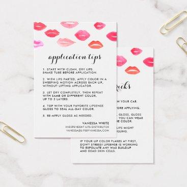 Professional Business Custom Lip Product Distributor Tips & Tricks Business Card
