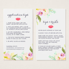 Custom Lip Product Distributor Tips & Tricks Business Card at Zazzle