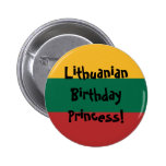 Custom Lithuanian Flag 2 Inch Round Button