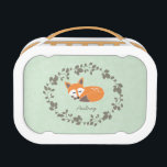 """Custom Little Fox Lunchbox<br><div class=""""desc"""">Cute fox design that can be customized with your name and initial. Perfect for kids!</div>"""
