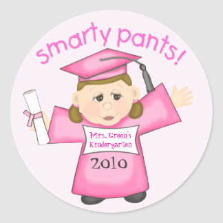 Custom Little Girl's Graduation Sticker