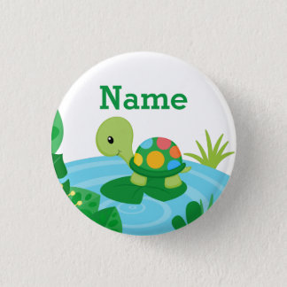 Custom Little Turtle Button