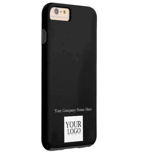 Custom Logo and Company or Business Name on Black Tough iPhone 6 Plus Case