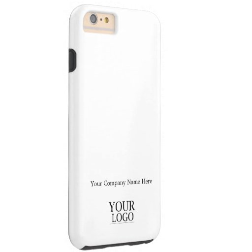 Custom Logo and Company or Business Name on White Tough iPhone 6 Plus Case