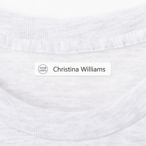 Custom logo and text fabric clothing labels