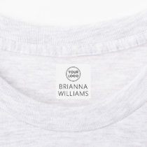 Custom logo and text square fabric clothing labels