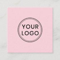 Custom logo, any color, square business cards