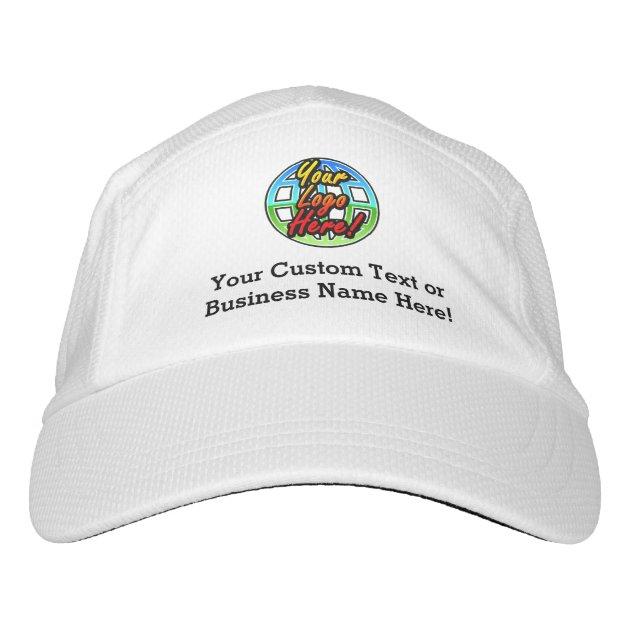 custom logo baseball cap hat no minimum quantity zazzle