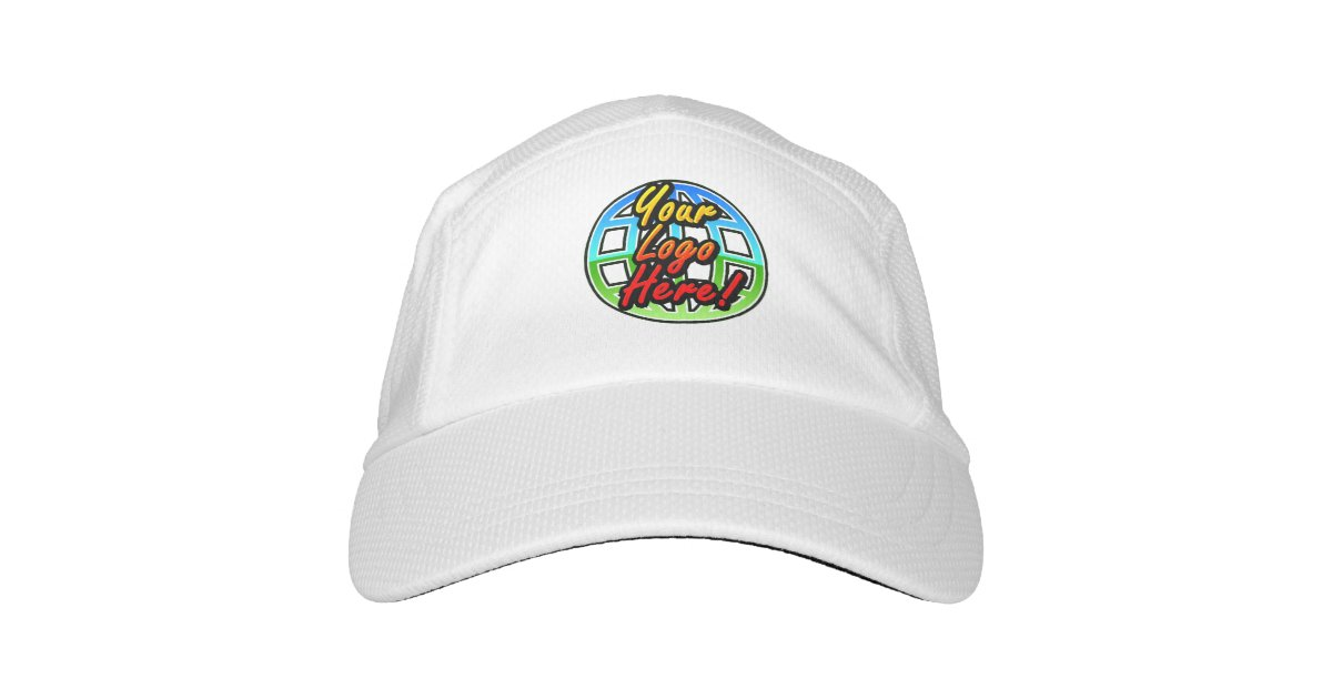Custom Logo Baseball Cap Hat No Minimum Quantity Zazzle Com