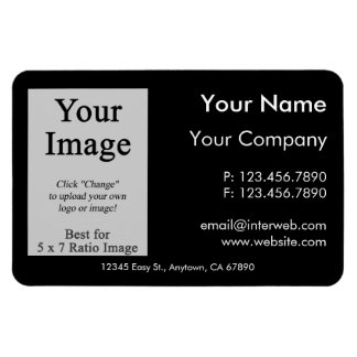 Custom Logo Black Business Card Style Magnet