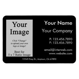 Custom Logo Black Business Card Style Magnet Rectangle Magnet