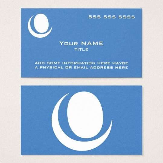 Custom Logo Blue Business Card