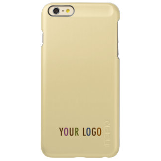 Custom Logo Branded Gold Incipio Feather Shine iPhone 6 Plus Case