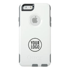 Custom Logo Branded White Commuter Otterbox Iphone 6/6s Case at Zazzle