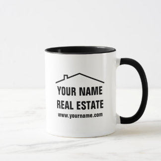 Custom logo coffee mug for real estate company