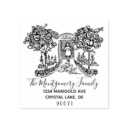 Custom Logo Elegant Family Name Return Address Rubber Stamp