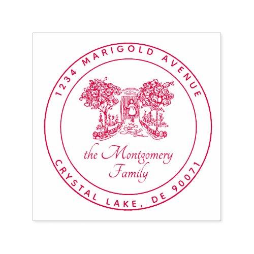 Custom Logo Elegant Family Name Return Address Self_inking Stamp