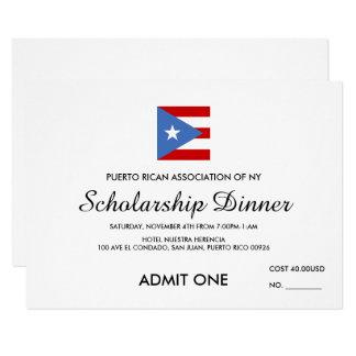 Custom Logo Event Ticket: Puerto Rico Card