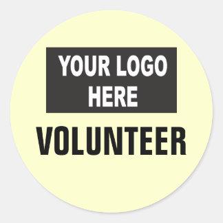 Custom Logo Event Volunteer Classic Round Sticker