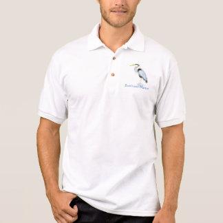 Custom Logo, Great Blue Heron Bird - Business Polo Shirt