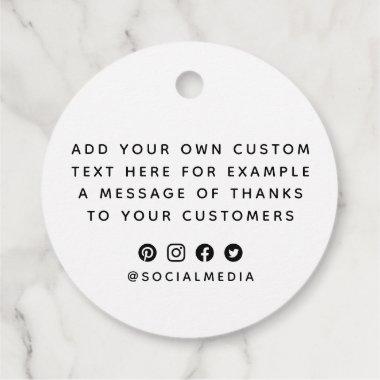 Custom logo message social media icon minimal tags