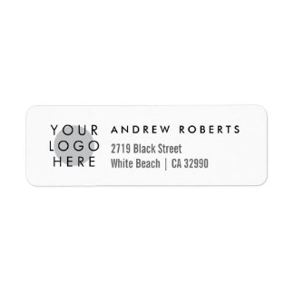 Custom Logo Minimalistic Return Address Labels