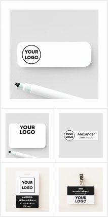 Custom Logo Name Tags and Badges