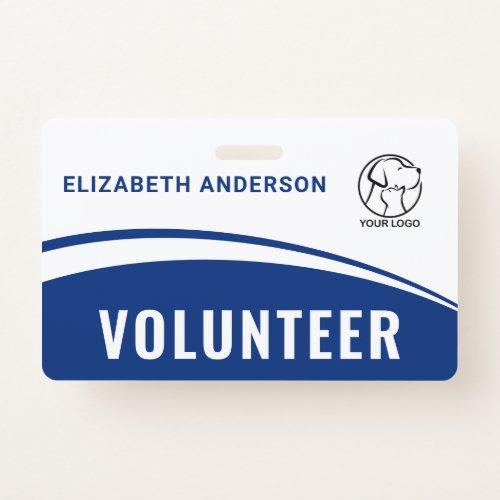 Custom Logo Name Volunteer ID Badge