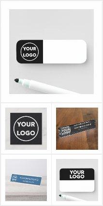 Custom Logo on Dark Background Business Supplies