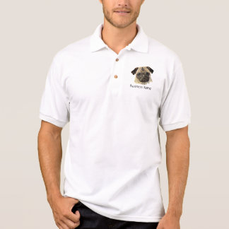 Custom Logo, Pug Dog, Business Polo T-shirts