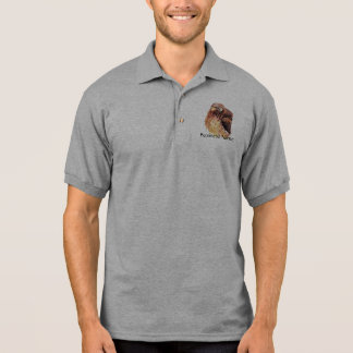 Custom Logo, Red Tailed Hawk Business Polo Shirt