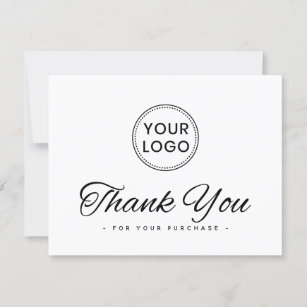 Thank you for your purchase business cards  colors blue white personalized
