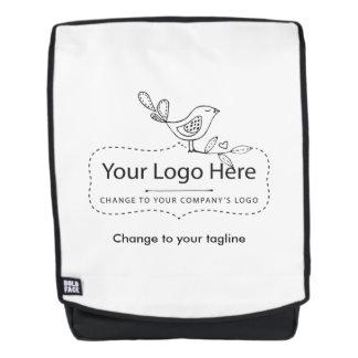 Custom Logo Tagline Business Corporate Backpack