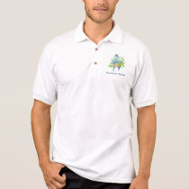 Custom Logo, Tropical Parrot  -Business Polo Shirt