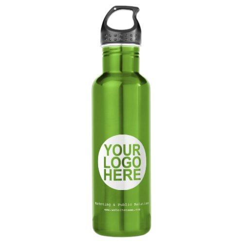 Custom Logo Water Bottle with Handle Green 24 oz