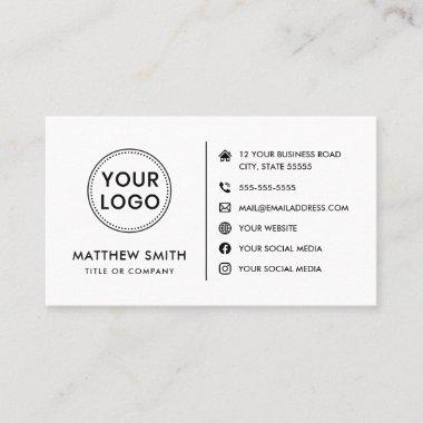 Custom logo website social media modern minimal business card