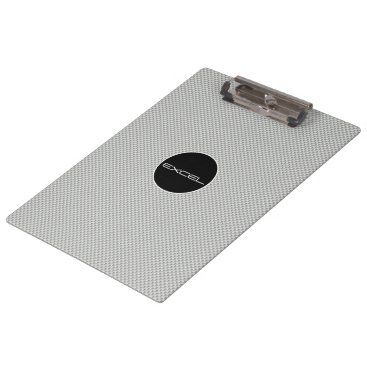 Beach Themed Custom Logo White and Grey Carbon Fiber Material Clipboard