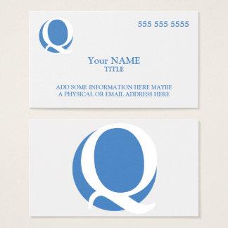 Custom Logo White Business Card