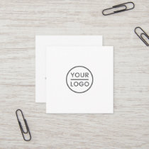 Custom logo, white, square, professional square business card