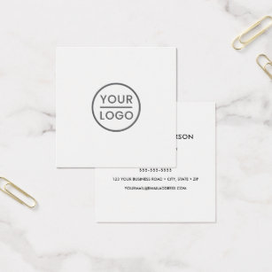 White business cards templates zazzle custom logo white square professional square business card colourmoves Image collections