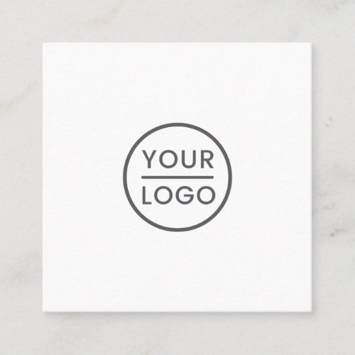 Custom logo white square professional square business card
