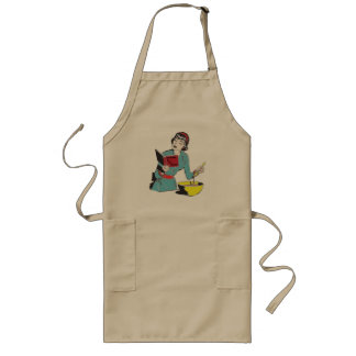 Custom Long Apron, Cookbook for the Clueless Long Apron