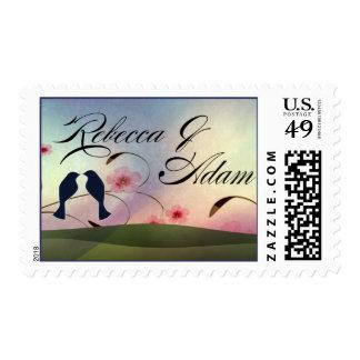 Custom love bird design postage