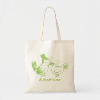 Custom Love Birds Wedding Bag
