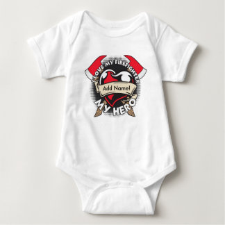 Custom Love My Firefighter Infant Creeper